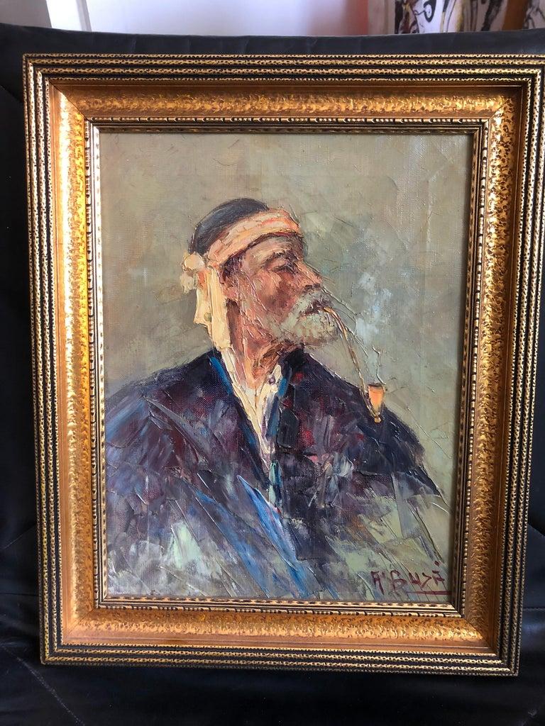 Albanian Abdurrahim Buza, Oil on Canvas For Sale