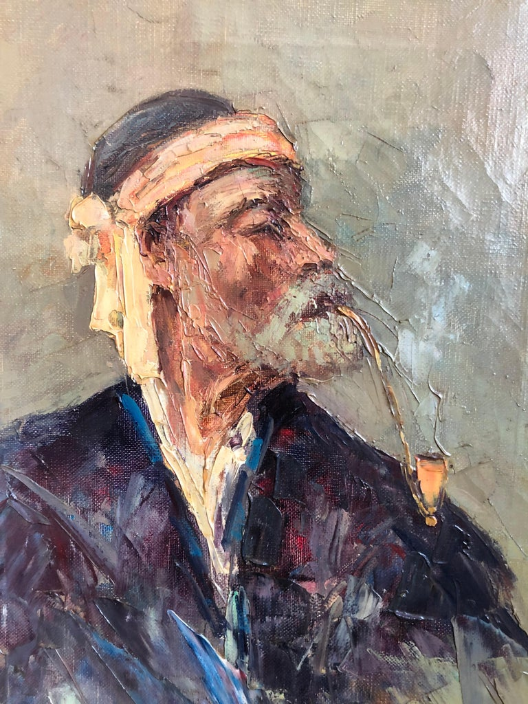 Painted Abdurrahim Buza, Oil on Canvas For Sale