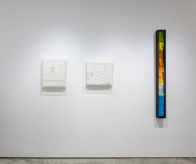 Mid-Century Modern Art, Design, 1978, White Relief #1078 - Sculpture by Abe Ajay