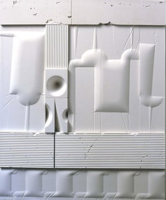 Mid-Century Modern Art, Design, 1978, White Relief #1078