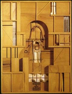 Mid-Century Modern Art, Design, Construction 484 by Abe Ajay 1984
