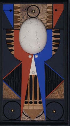 Mid-Century Modern Art, Design, Totem 1 by Abe Ajay 1965