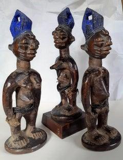 Yoruba Ibeji triplets master sculptor.Abegunde of Ede tribal African Art Nigeria