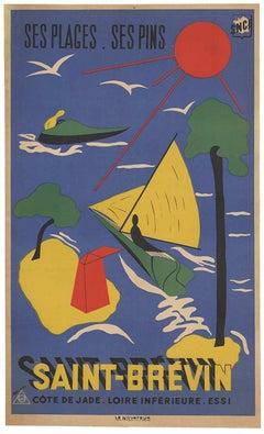 Saint Brevin vintage French travel original poster