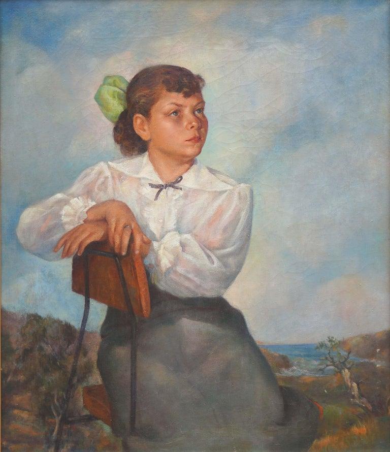 Portrait of Lisa Mi Hamlin - Painting by Abel Warshawsky