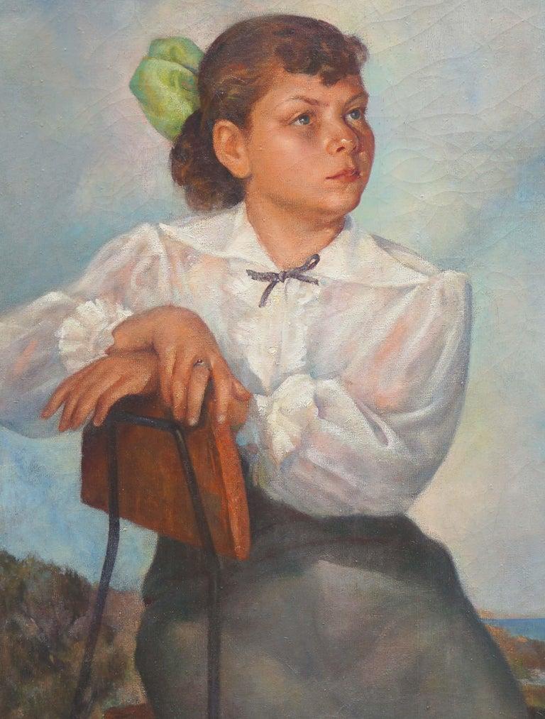 Portrait of Lisa Mi Hamlin - Realist Painting by Abel Warshawsky