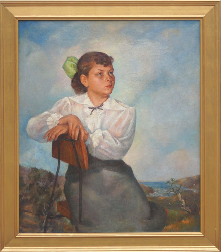 Abel Warshawsky Portrait Painting - Portrait of Lisa Mi Hamlin