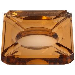 Aber Art Deco Glass Ashtray