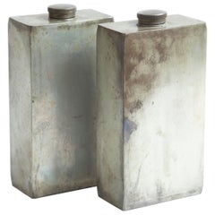 Abercrombie and Fitch Silver-Plated Flasks