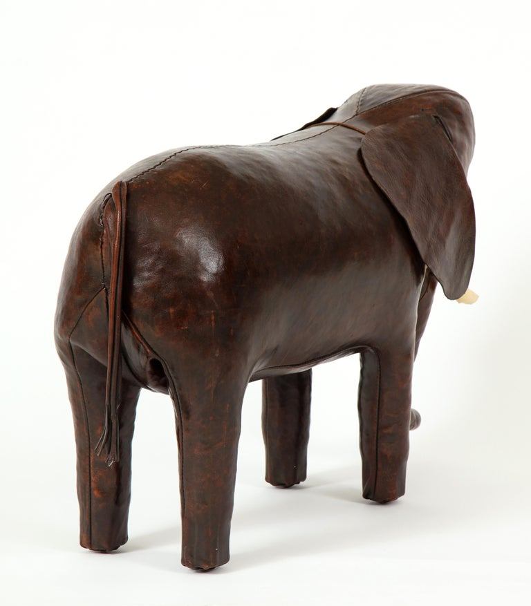 Abercrombie & Fitch Elephant Footstool by Dimitri Omersa In Good Condition For Sale In New York, NY