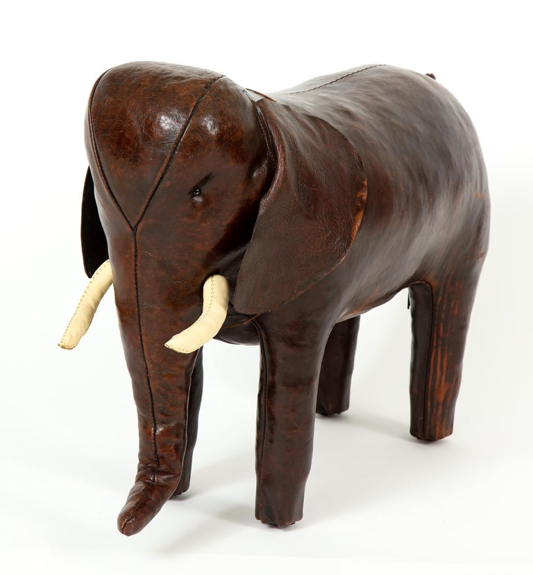 Abercrombie & Fitch Elephant Footstool by Dimitri Omersa For Sale 1