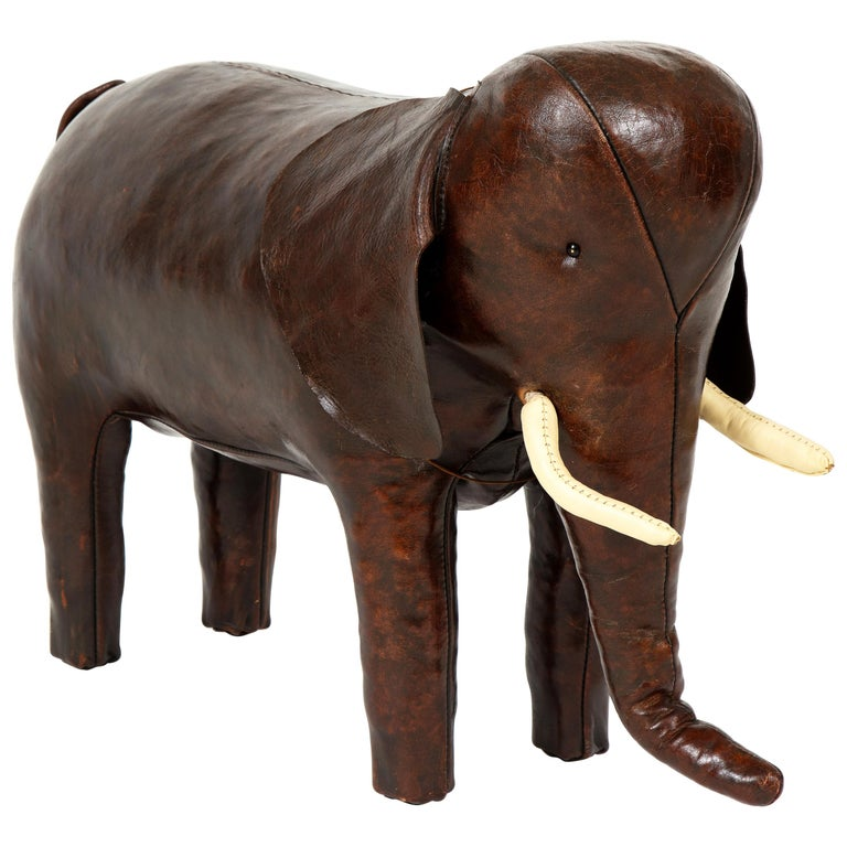 Abercrombie & Fitch Elephant Footstool by Dimitri Omersa For Sale