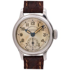 """Abercrombie & Fitch Ladies stainless steel """"Shipmate"""" manual Wristwatch, c 1940s"""