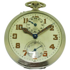 Abercrombie & Fitch Rare Travel Alarm Pocket Watch circa 1930 with Original Dial