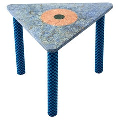 Abide Marble Side Table in Blue