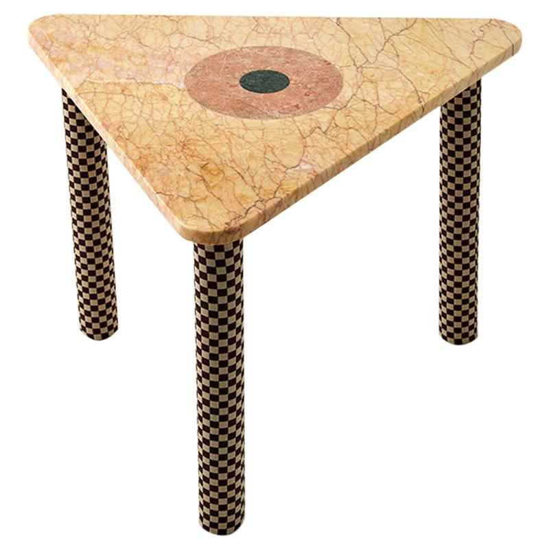 Abide Marble Side Table in Yellow
