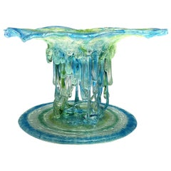 """""""Abissi"""" Jellyfish, Murano Glass, Handmade in Italy, Contemporary Design, 2020"""