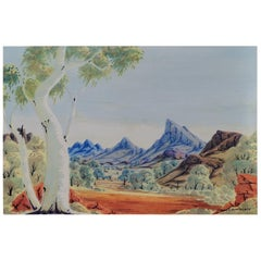 Aboriginal Art, Mount Zeil, Central Australian Landscape