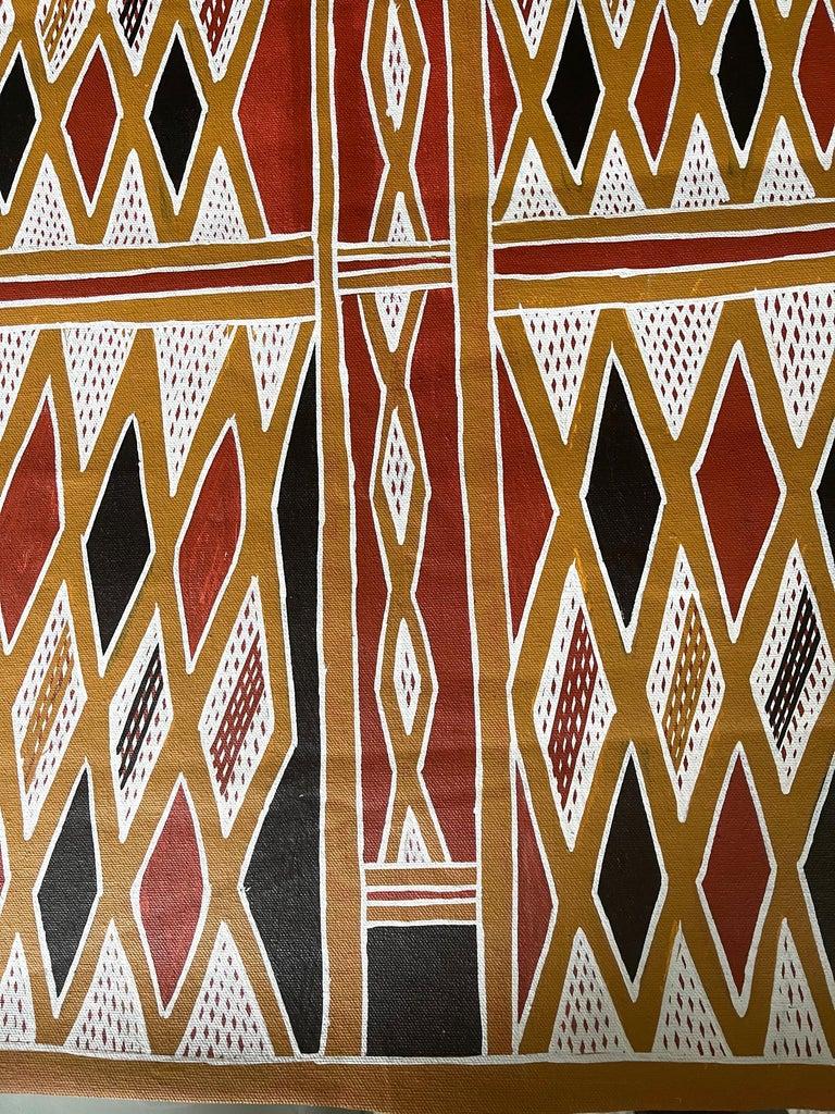Tribal Aboriginal Body Painting Terrence Gurruwiwi Elcho Island, Australia For Sale