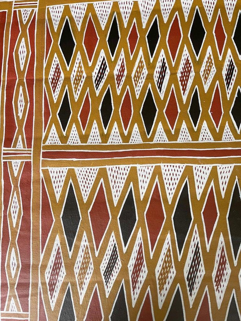 Australian Aboriginal Body Painting Terrence Gurruwiwi Elcho Island, Australia For Sale