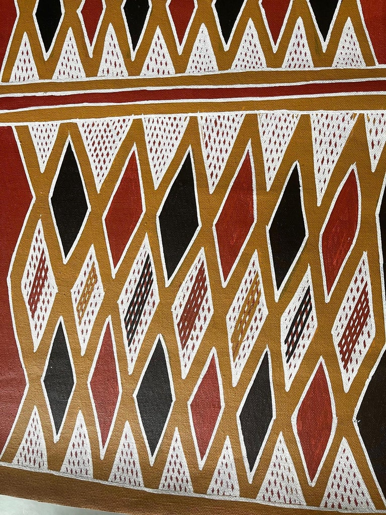 Painted Aboriginal Body Painting Terrence Gurruwiwi Elcho Island, Australia For Sale