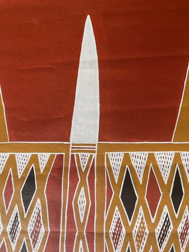 Aboriginal Body Painting Terrence Gurruwiwi Elcho Island, Australia In Good Condition For Sale In Atlanta, GA