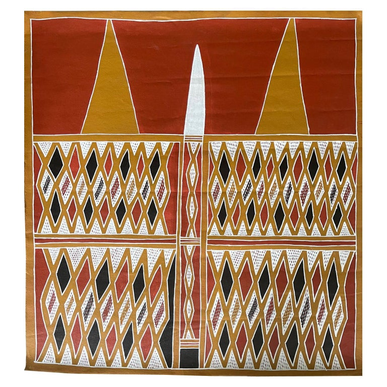 Aboriginal Body Painting Terrence Gurruwiwi Elcho Island, Australia For Sale