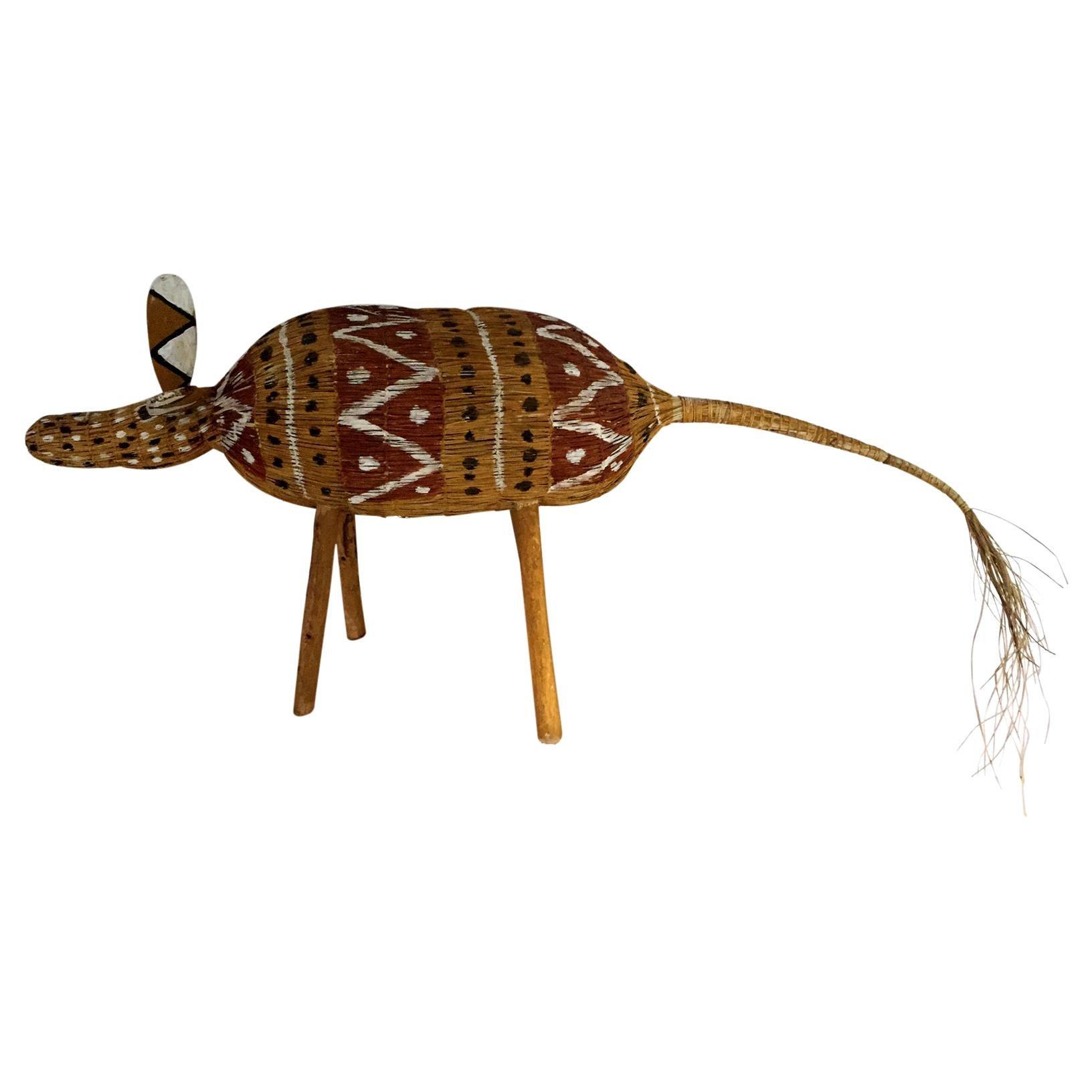 Aboriginal Contemporary Fiber Art Camp Dog
