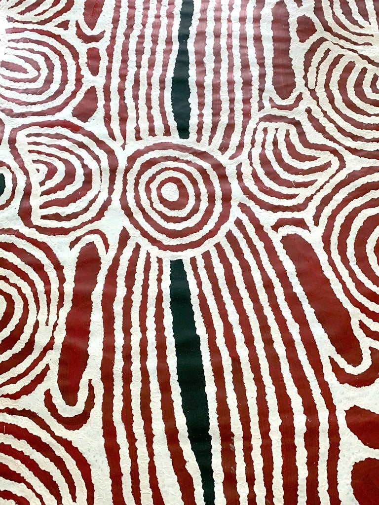 Large aboriginal painting by contemporary artist Ningura Napurrula entitled
