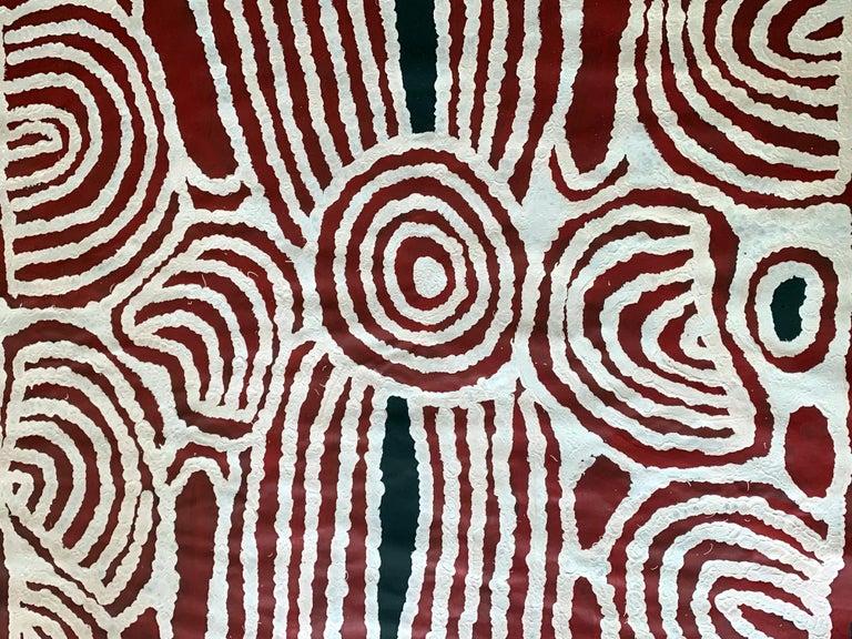 Tribal Aboriginal Contemporary Painting by Ningura Napurrula For Sale