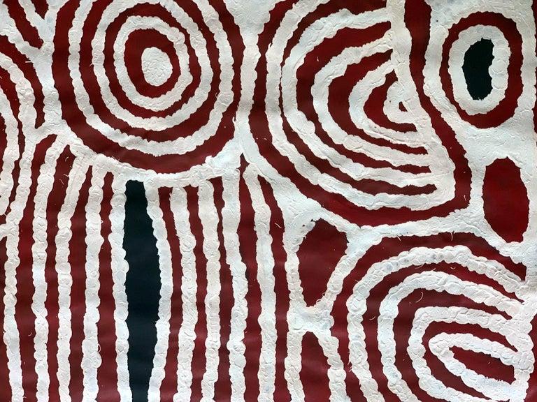 Aboriginal Contemporary Painting by Ningura Napurrula In Good Condition For Sale In North Miami, FL