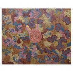 "Aboriginal Painting ""Kupatur Caterpillar"" by Cassidy Tjapaltjarri, 1970"