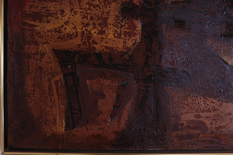 American Abstract Expressionist Oil Painting by Vincent Cavallaro  For Sale