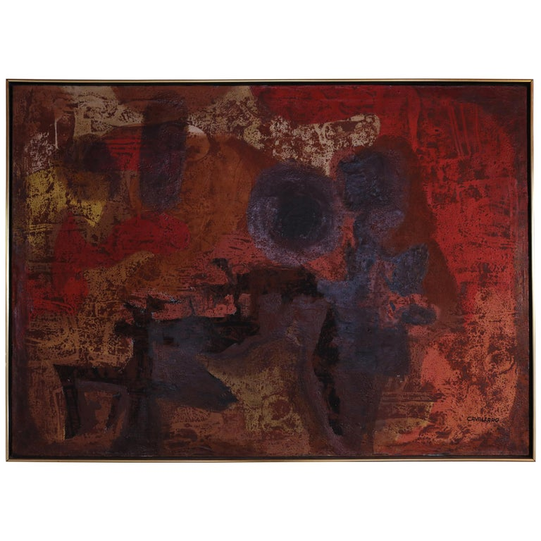 Abstract Expressionist Oil Painting by Vincent Cavallaro  For Sale
