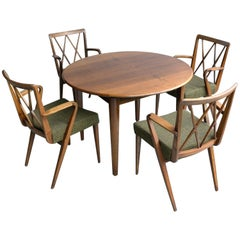 Abraham A Patijn Poly-Z Dining room set in Walnut, The Netherlands, 1950s