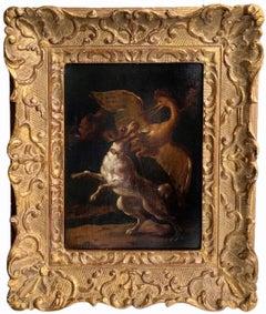 17th century Dutch old master - A majestic hunt - Dog Prey