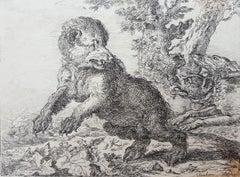 Honden Jagen Op Een Beer (Hounds Hunting a Bear)
