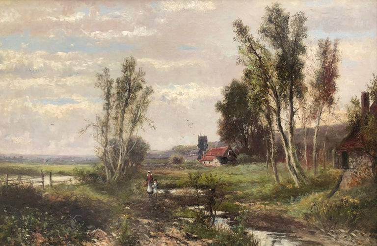 Oil Paintings, Pair of Landscapes by Abraham Hulk Junior (1813-1897) For Sale 2