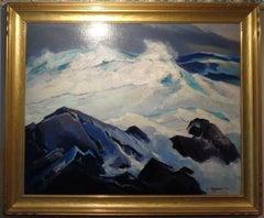 Russian American Impressionist Artist Abraham J Bogdanov oil paintingThe Squall