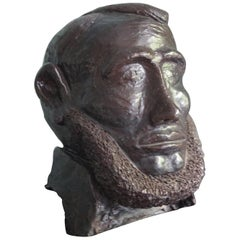 Abraham Lincoln Black Ceramic Head
