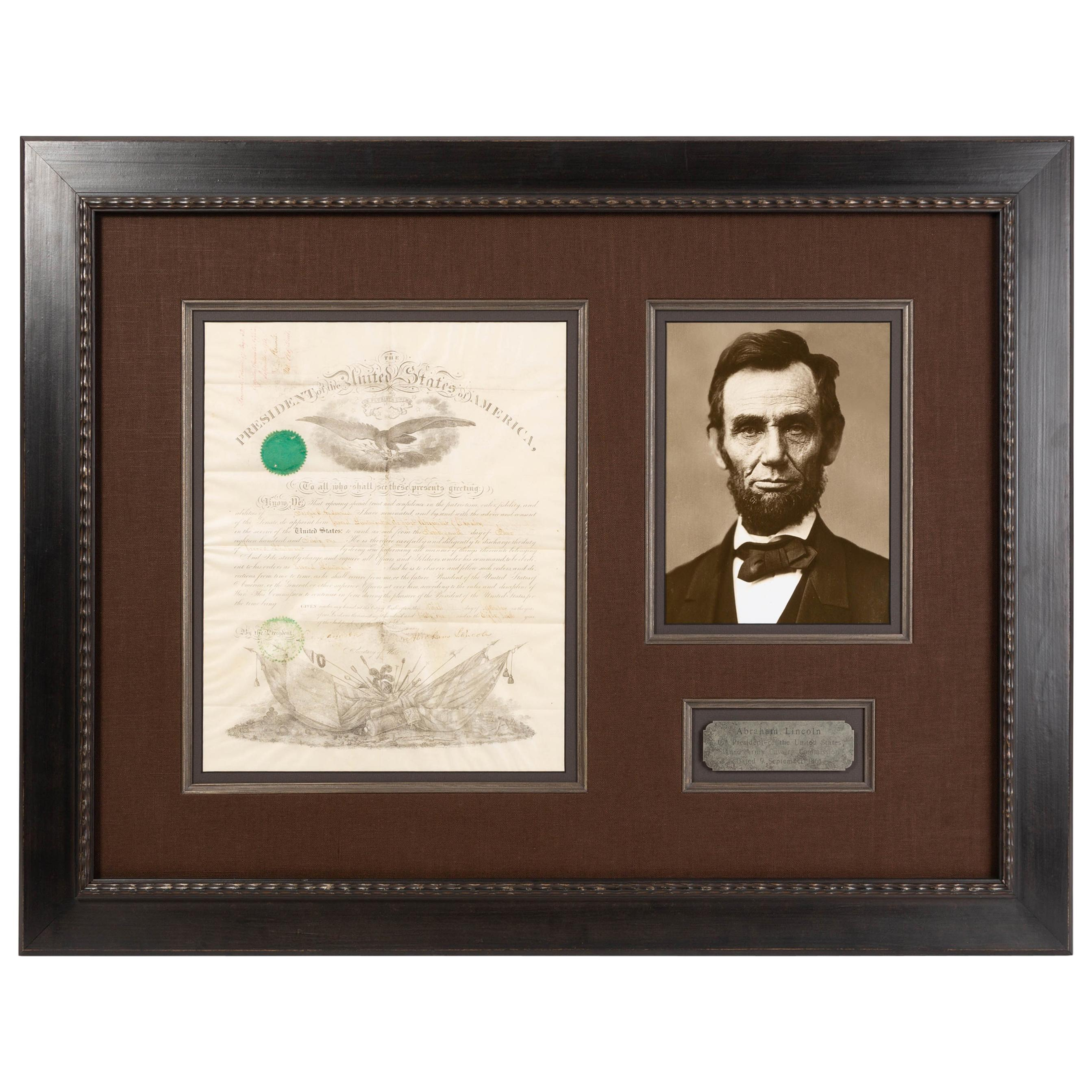 Abraham Lincoln Signed Military Commission, Dated September 9 1861
