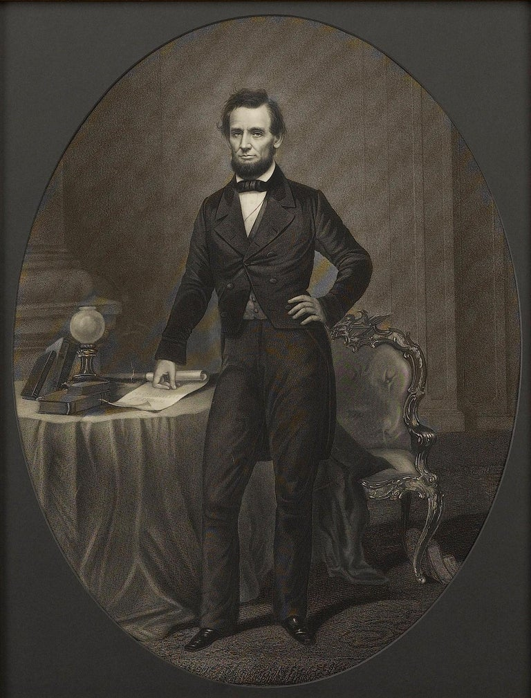 American Abraham Lincoln Signed Presidential Civil War Military Appointment, circa 1864 For Sale
