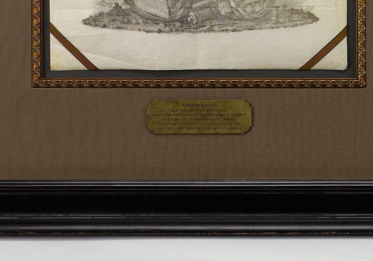 Abraham Lincoln Signed Presidential Civil War Military Appointment, circa 1864 In Excellent Condition For Sale In Colorado Springs, CO