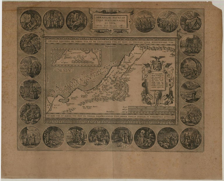 Abraham Ortelius (1527-1598) - 17th Century Engraving, Map of the Holy Land For Sale 1