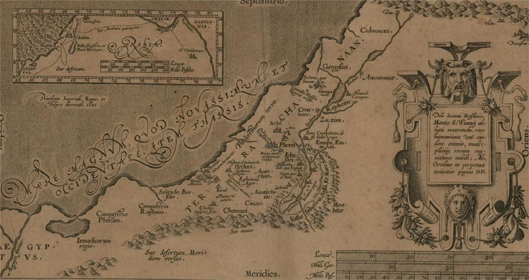 Abraham Ortelius (1527-1598) - 17th Century Engraving, Map of the Holy Land For Sale 2