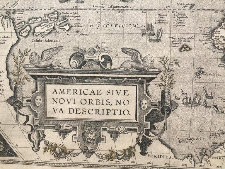 AMERICAE - Sive Novi Orbis, Nova Descriptio - Old Masters Print by Abraham Ortelius
