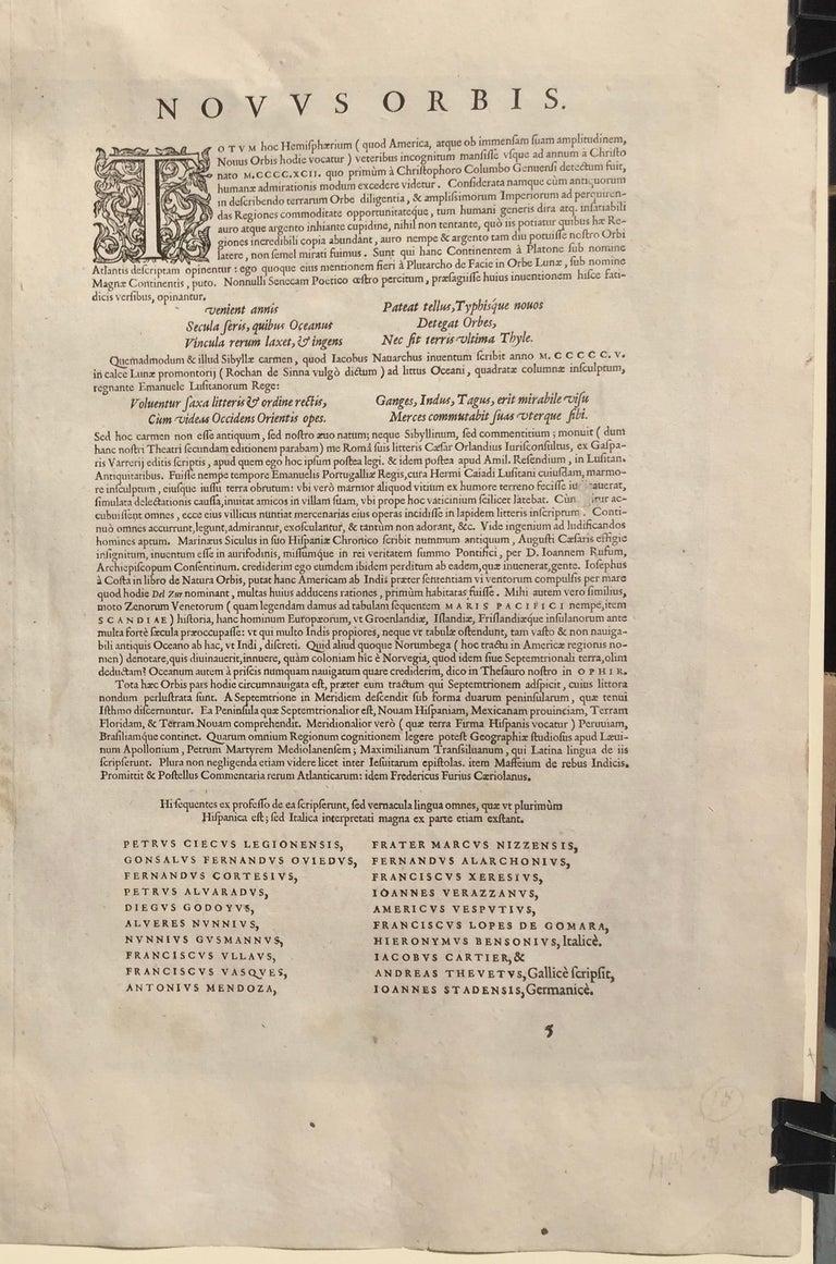 AMERICAE - Sive Novi Orbis, Nova Descriptio - Brown Landscape Print by Abraham Ortelius