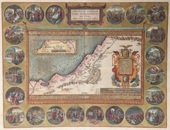 HOLY LAND Original Engraved Map