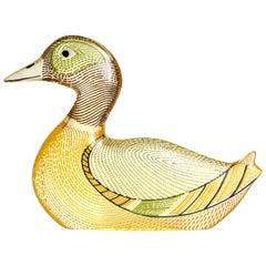 Abraham Palatnik Brazil Lucite Colored Duck, circa 1970