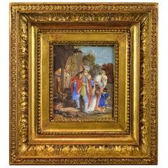 """Abraham Repudiating Hagar"", Miniature, Ater Van Rijn, Rembrandt, 18th Century"